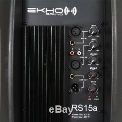 B-stock Ekho Rs15a Haut-parleur Amplifié Actif 15 Pouces Dj Disco Pa Party De Karaoké