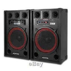 B-stock Fenton 12 Actifs Bluetooth Pa Dj Haut-parleurs Disco Karaoke Party Set