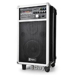 B-stock Mobile Disco Complete Pa Sound System Kit Active Speaker 2x Uhf Microp