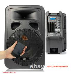B-stock Skytec 12 Bluetooth Actif Disco Dj Haut-parleur Portable Pa Wedge Monitor