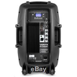 B-stock Vonyx 12 Dj Usb Active Mp3 Bluetooth Speaker Sd Pa Disco Party Karaoke