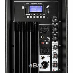 B-stock Vonyx 15 Haut-parleur Bluetooth Mp3 Usb Active Powered Sd Dj Pa Disco Party