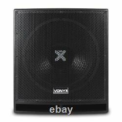 B-stock Vonyx Pro 15 Powered Actif Bin Subwoofer Dj Disco Pa Sub Président