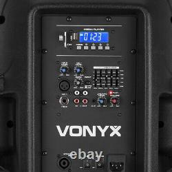 B-stock Vonyx Vps122a 12 Active Bluetooth Disco Speakers Dj Pa System 800w Avec