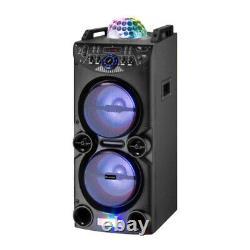 Blackmore Bls5213bt 2x 10 Pa + Haut-parleur Bluetooth + Usb / Sd / Fm / Led / Disco Light + MIC