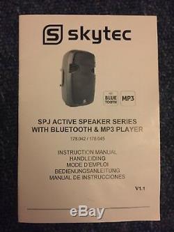 Bluetooth Actif Haut-parleur 800 Parties Karaoké 800w Usb Sd Dj Disco Haut-parleur
