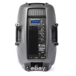 Bluetooth Active 15 Pa Speaker 800w Karaoke Party Usb Sd Dj Disco Haut-parleur