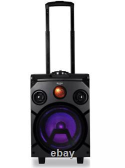 Bush Portable Pa System Bluetooth Party Speaker Avec Lumières Disco & 2 X Entrées Micro