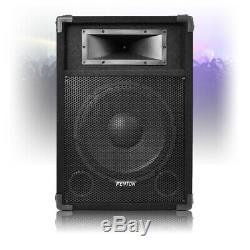Csb 12 Dj Haut-parleurs Actifs Avec Des Stands Fort 600w Karaoke Pa Disco House Party