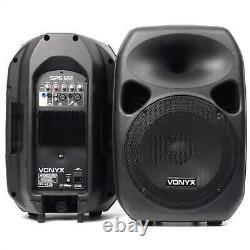 Dj Pa Speaker System Active Disco Dj Party Music Event Stand Set 2x 700w Noir