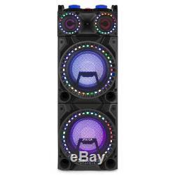 Double 10 Bluetooth Haut-parleurs Karaoke Party Avec Disco Lights Mp3 Music System