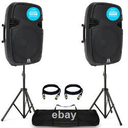 Ekho Rs15a 15 1600w Active Dj Disco Pa Club Président Étape (paire) + Pro Kit