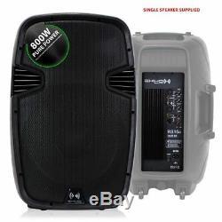 Ekho Rs15a 15 1600w Enceinte De Discothèque Active Dj Disco Pa (paire) + Kit Pro