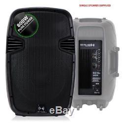 Ekho Rs15a V3 15 1600w Enceinte De Discothèque Active Dj Disco Pa (paire) + Kit Pro