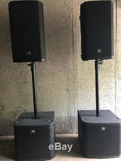 Electro Voice X 2 Zlx12p Active + X 2 Zxa1-12 Système De Sonorisation Secondaire Pour Bande Ou Disco