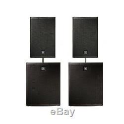 Electro-voice Enceintes Actives Elx115p Et Ensemble Amplificateur Amplifié Elx118p Pour Dj Disco Pa