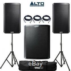 Enceinte Alto Ts315 Active 15 Dj Disco (paire) & Subwoofer Alto Ts218s 18