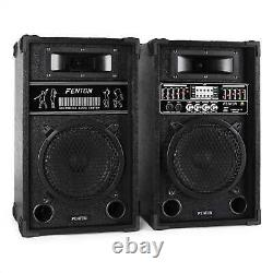 Enceintes Actives Usb Sd Mp3 Dj Disco Party Karaoke Pa Sound System 600w Paire Nouveau