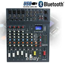 Enceintes Dj Actives Et Mélangeur Disco Party 800w Bluetooth Usb Studiomaster 8