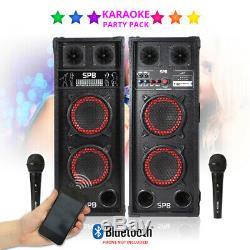 Ensemble D'enceintes De Soirée Disco Bluetooth Avec Système De Sonorisation Karaoké Avec Câbles Mp3