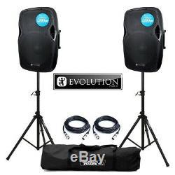 Evolution Rz15a V3 15 Cône 1200w Actif Dj Disco Pa House Party Scène Haut-parleurs