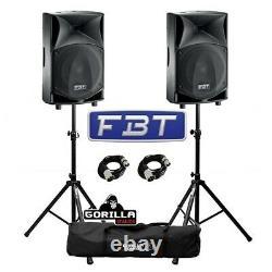 Fbt Jmaxx 110a Active 900w 10 Dj Disco Pa Speaker (paire) Avec Stands & Câbles