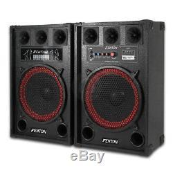 Fenton 12 Active Pa Dj Speakers Système De Jeu De Fête Karaoké Disco Music
