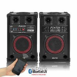 Fenton 8 Bluetooth Haut-parleurs Disco Karaoke Propulsé Microphones, Mixer Et Lumières