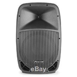 Fenton Ftb12 V3 Active 500w 12 Dj Disco Pa Président (paire) Avec Supports
