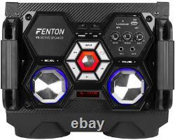 Fenton Vs10 Bluetooth Actifs À Partir Disco Haut-parleurs Dj Party Set Avec Des Lumières Led
