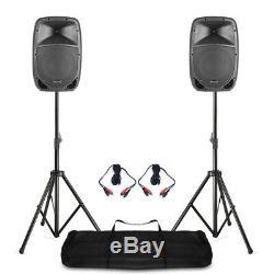 Ftb 10 Pouces Active Dj Pa Disco Haut-parleurs 400 Watt Avec Câbles Et Supports