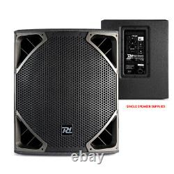 Full Pa Sound System Powered Speakers Subwoofers Dj Disco Club Avec Stands 1300w