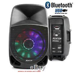 Haut-parleur Actif Bluetooth Pa Dj Disco Karaoke Party Usb Led Lumière 15 350w