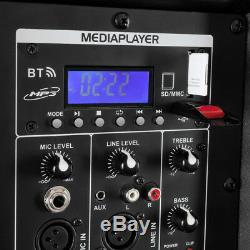 Haut-parleur Actif Dj Double 15 Woofer Bluetooth En Streaming Pa Disco 1200w Amplificateur