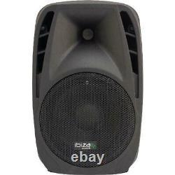 Haut-parleur Actif Ibiza Avec Usb/sd/bluetooth 8 150w Adapté Aux Disco Domes