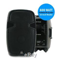 Haut-parleur De Sonorisation Actif Skytec Spj-1200a 12 Woofer Dj Disco Party Puissant 600w