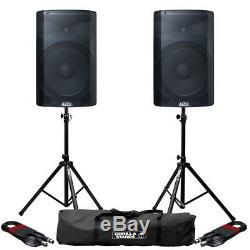Haut-parleur De Sonorisation Dj Disco Alto Tx215 Active 15 300 W Rms (paire) Avec Supports Et Câbles