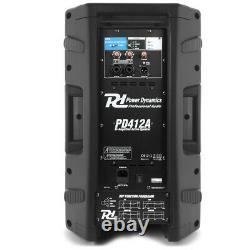 Haut-parleur Dj Actif Pa Professional Bi-amplified Disco System Bluetooth 12 1400w