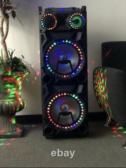 Haut-parleur Karaoké Bluetooth Rechargeable De 18500 Watts Avec Quatre Lihts Disco
