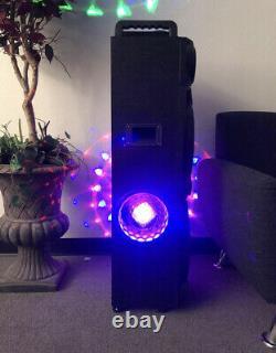 Haut-parleur Karaoké Bluetooth Rechargeable De 18500 Watts Avec Quatre Lumières Disco
