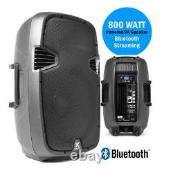 Haut-parleur Pa Actif 800w Wireless Bluetooth Audio Streaming 15 Vonyx Dj Disco
