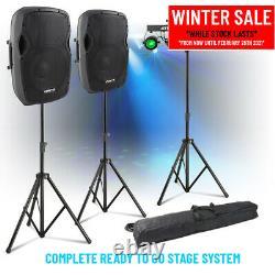 Haut-parleurs Actifs Complets Système De Sonorisation Et Partybar Uv Strobe Moon Disco Stage Light