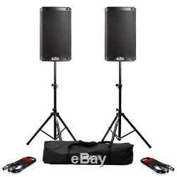 Haut-parleurs Alto Ts308 Active 8 Dj Disco (paire) Avec Pieds Et Câbles Gorilla