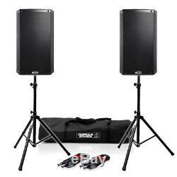 Haut-parleurs Alto Ts310 Active 10 Dj Disco (x2) Avec Supports Gorilla Et Câbles Xlr
