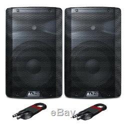 Haut-parleurs Alto Tx210 Active 10 600 W Rms Dj Disco Live Pa (paire) Avec Câbles DMX