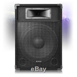 Haut-parleurs Dj Actif Csa 15 Powered Mobile Pa Disco (paire) Avec Des Stands 1600w