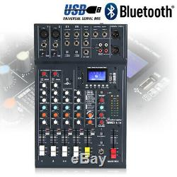 Haut-parleurs Dj Actifs Et Studiomaster 6ch Bluetooth Usb Mixer 800w Dj Disco Party