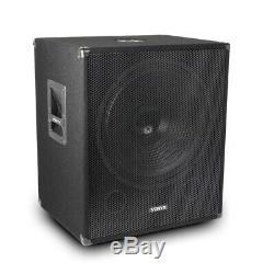 Haut-parleurs Et Amplificateur Pa Dj Disco Ensemble, 15 Tops 18 Basse Bin Subs