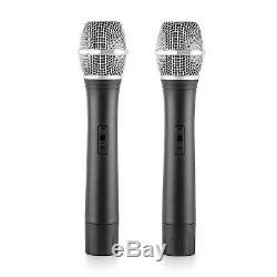 Haut-parleurs Karaoke Microphone Sans Fil 2x Disco Party Set Actif 600w