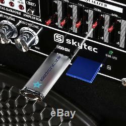 Haut-parleurs Karaoke Microphone Sans Fil De Disco Party Set Active 1200w